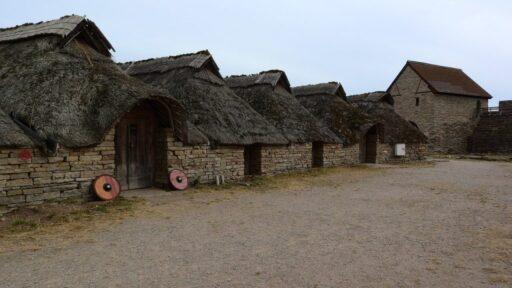 asentamientos celtas, casas historicas de la época medieval