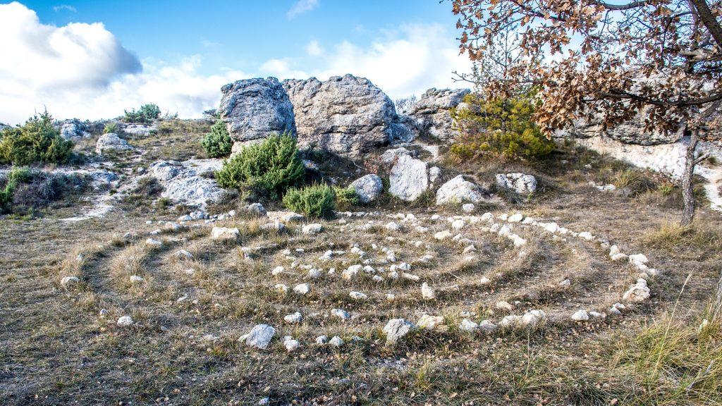 Espiral celta para ritual pagano.