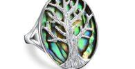 Tienda de anillos celtas con el árbol de la vida.