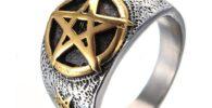 Tienda de anillos con estrella celta.