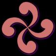 Lauburu rosado logo. Símbolos celtas.