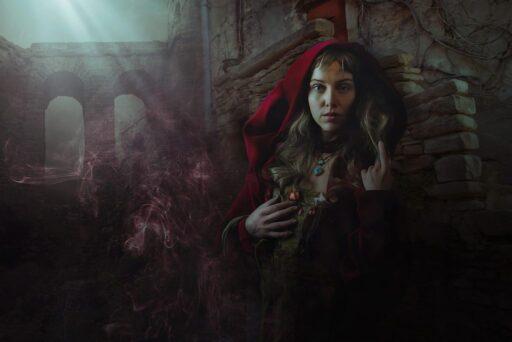 Bruja celta en castillo. Mujeres celtas.