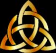 Triqueta celta con circulo color dorado.