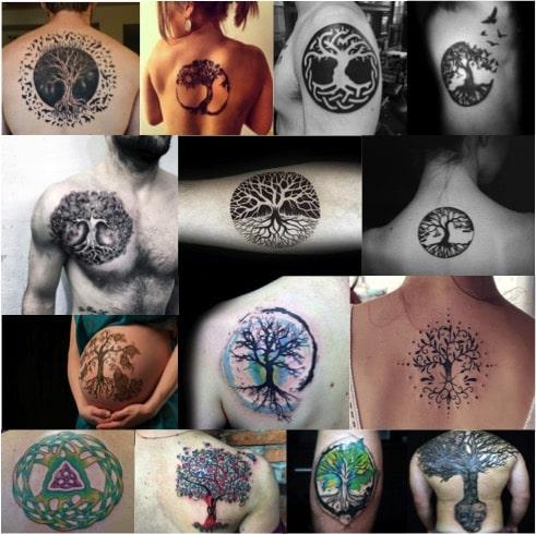 Tatuajes con el árbol de la vida celta para hombre y mujer.