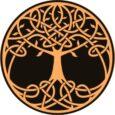 Símbolo celta del árbol de la vida que une raíces con sus ramas.