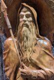 Dios nórdico Odín con valknut en la frente.