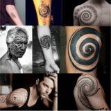 Tattoo con espiral celta para hombre y mujer en tatuajes.