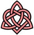Triqueta con nudo corazón de hermandad. Símbolos celtas.