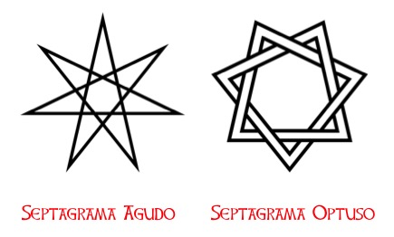 Estrella de las hadas aguda y obtusa.